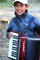 Young accordionist